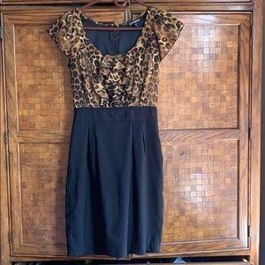Express Cheetah Ruffle Dress